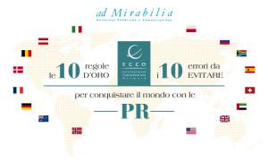 ECCO AD MIRABILIA - Le 10 regole, i 10 errori PR
