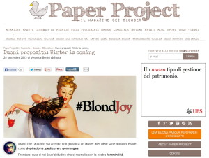 PAPER PROJECT_#BLONDJOY_screenshot