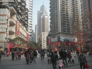 The_pedestrian_mall_in_Nanping_District,Chongqing
