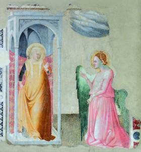 RID-MAESTRO DI CAMPODONICO-Annunciazione affresco staccafo Fabriano, Chiesa di S. Maria Maddalena