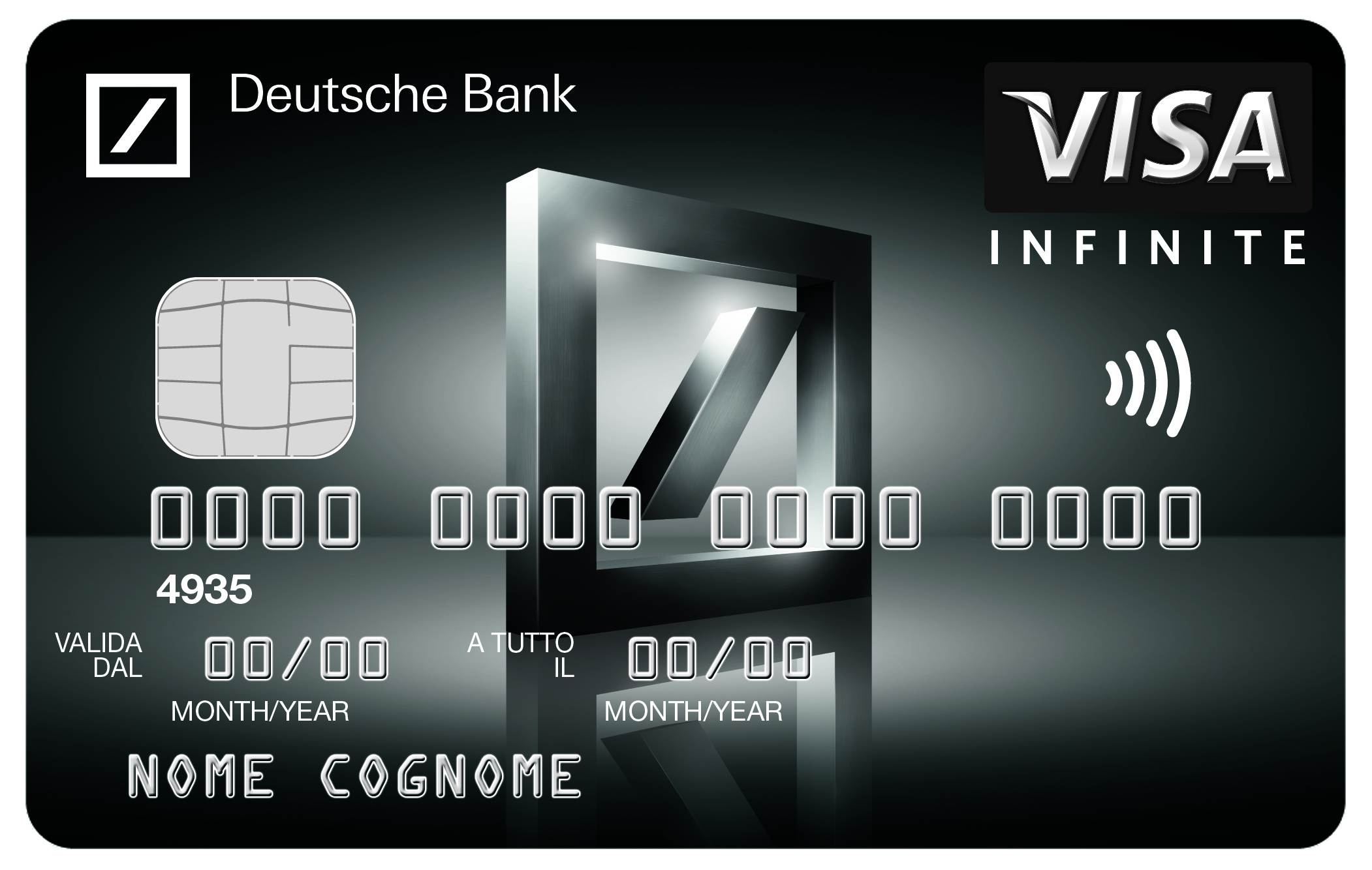 Deutsche Bank lancia Visa Infinite la sua prima Black Card Visa