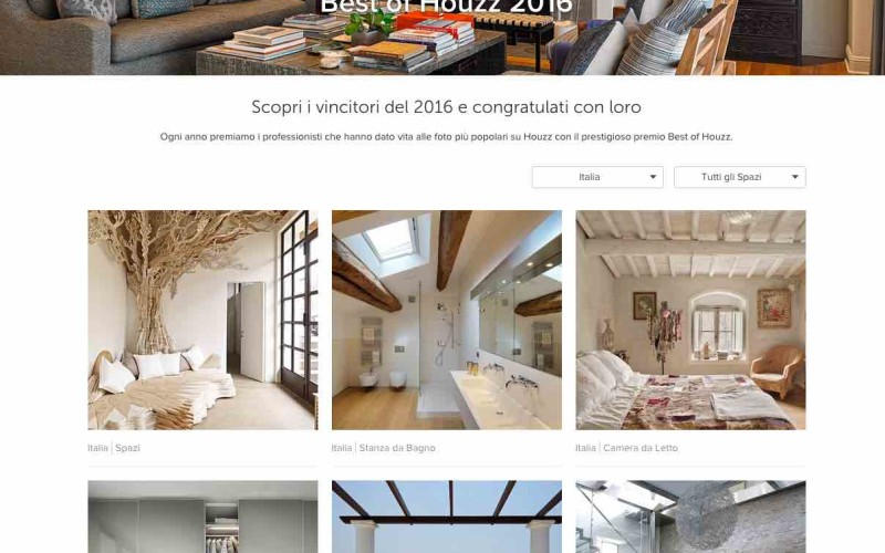 "Ecco i vincitori del ""Best of Houzz 2016"" in Italia"