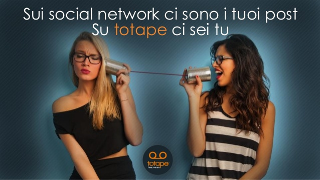 Totape primo social network vocale