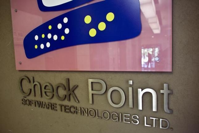 The Check Point Software Technologies Ltd. logo is seen at the company's offices in Tel Aviv August 15, 2011. REUTERS/ Nir Elias