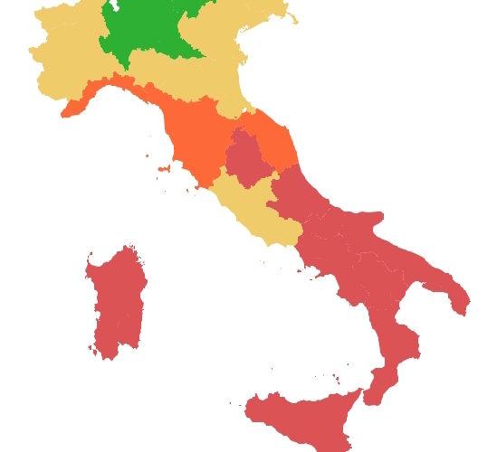 Spread: il credito costa di più alle aziende calabresi (7,98%) che a quelle del Trentino-Alto Adige (4,65%)