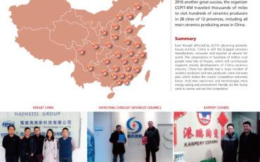 Macchine per la ceramica italiane in Cina