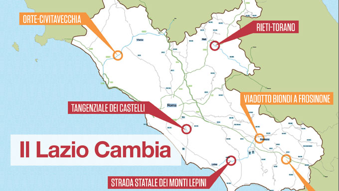 Lazio: ci sono 1 miliardo e 407 milioni per infrastrutture e opere strategiche