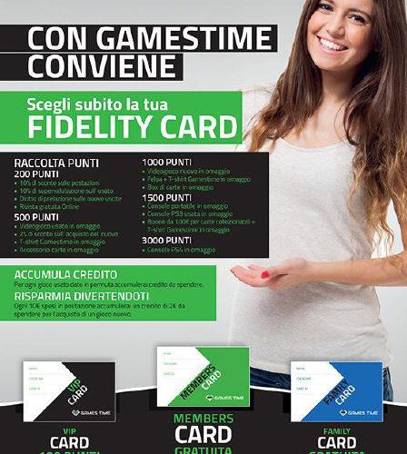 Games Time lancia le fidelity card per le famiglie