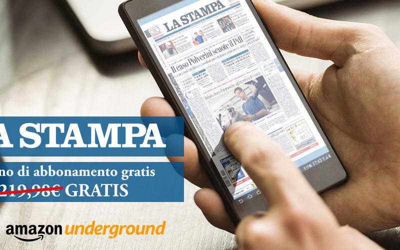 La Stampa gratuita con Amazon Underground App