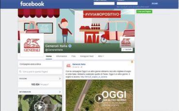 Generali Italia premiata dal digital con 100 mila fan su FB