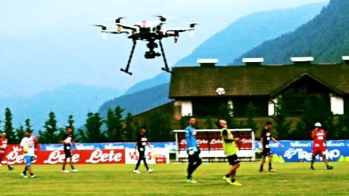 Il calcio Napoli usa i droni per capire le tattiche di Sarri