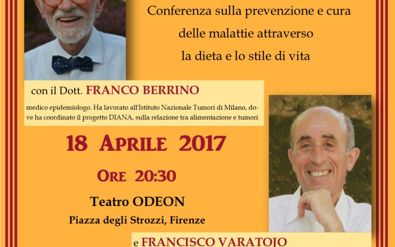 Conferenza di Berrino e Varatojo a Firenze su diete e stili di vita