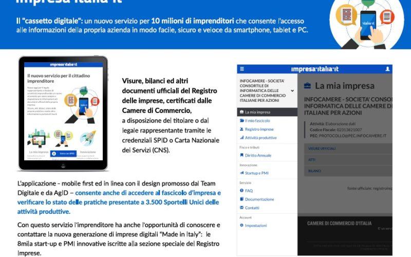 """Con impresa.italia.it al via il """"cassetto digitale dell'imprenditore"""""""