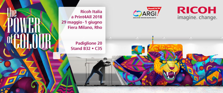 "Ricoh presenta ""The Power of Colour"" a Print4All"
