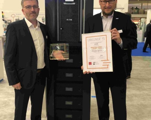 Eaton premiata all'Hannover Industrial Energy Efficiency