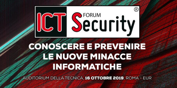 Forum Ict Security a Roma il 16 ottobre