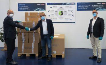 Robopac confeziona 15 mila mascherine per Castel San Pietro