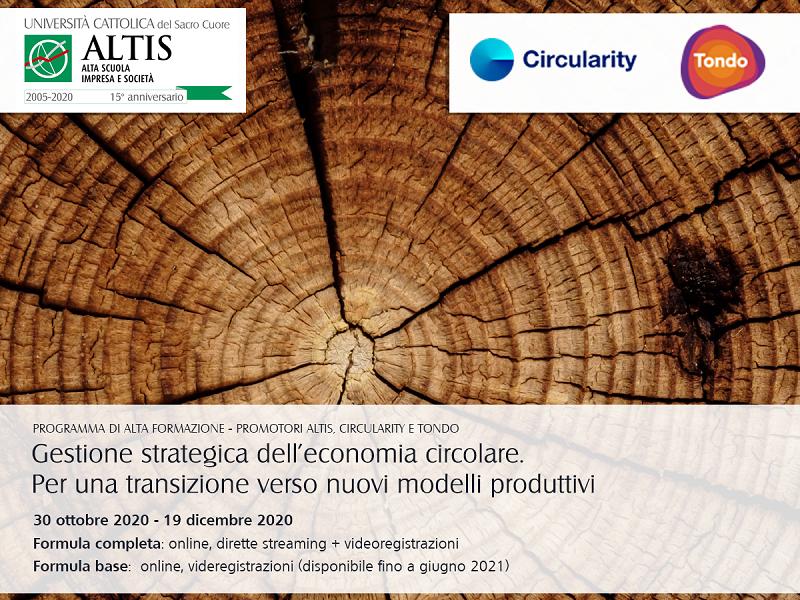 UniCatt, Tondo e Circularity formano in economia circolare