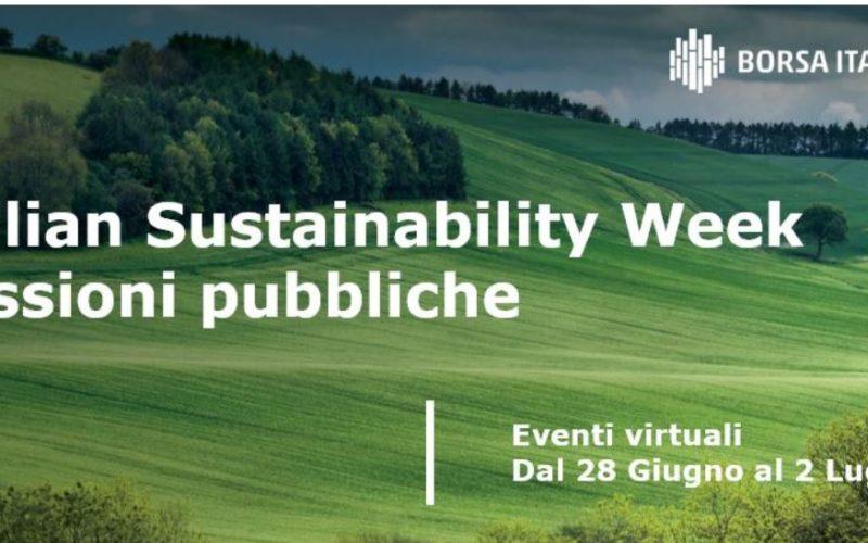 Al via Italian Sustainability Week fino al 2 luglio