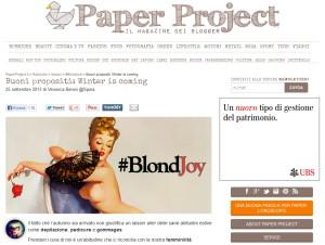 PAPER PROJECT_#BLONDJOY_screenshot