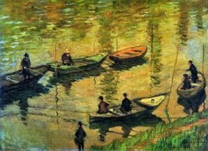 1882 Anglers on the Seine at Poissy oil on canvas 81 x 60 cm Österreichische Galerie Belvedere, Vienna