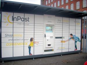 InPost UK Parcel Lockers in situe