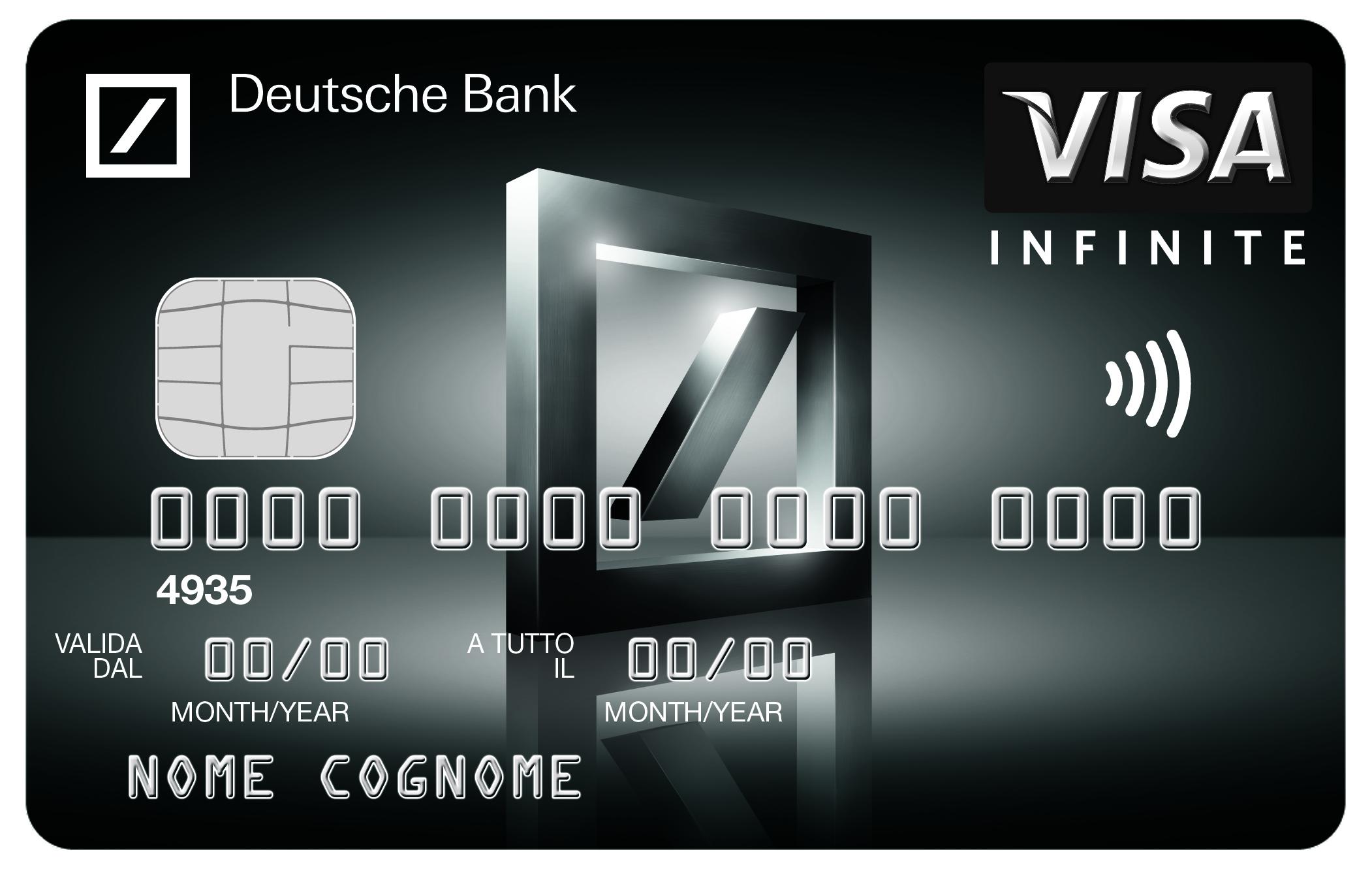 Deutsche Bank lancia Visa Infinite <br> la sua prima Black Card Visa