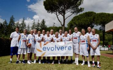 Evolvere sponsor ufficiale della Nazionale italiana Basket Over 60
