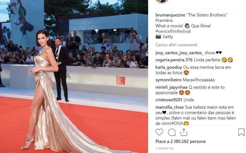 Bruna Marquezine vince la Mostra del Cinema su Istagram
